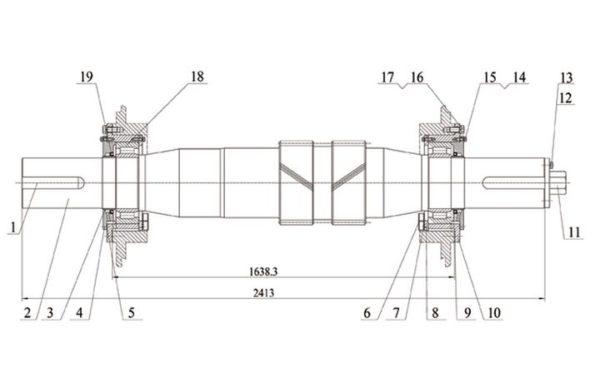 Вал трансмиссионный в сборе насоса серии f-1300