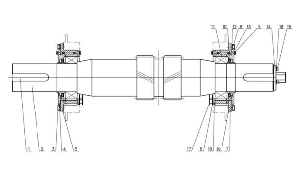 Вал трансмиссионный в сборе насоса серии F-1000