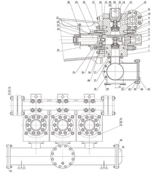 Гидравлическая часть насоса серии F-1300