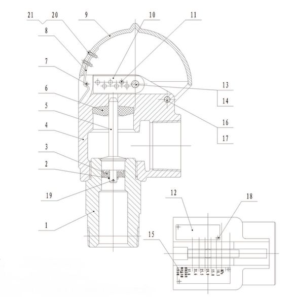 Клапан предохранительный в сборе насоса серии f-1300