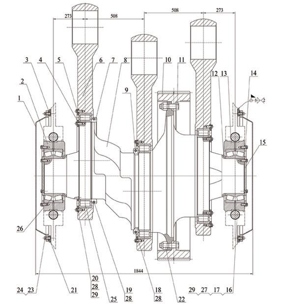 Кривошипно-шатунный механизм в сборе насоса серии f-1300
